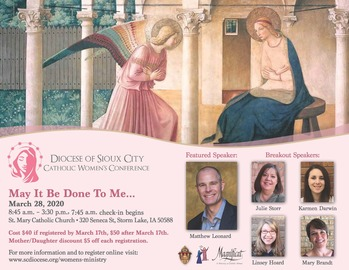 Diocesan Women's Conference-CANCELED