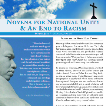 Novena For National Unity & An End to Racism