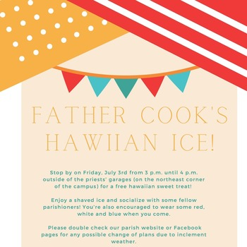 Father Cook's Hawaiian Ice