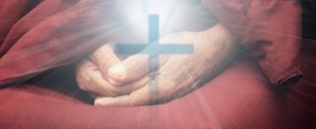 hands with cross