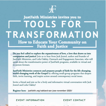JustFaith Ministries Virtual Event: Tools for Transformation