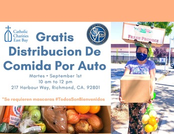 September 1, 2020, Food & Fresh Produce Distribution in Richmond