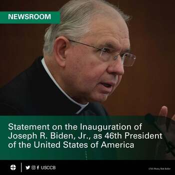 Bishop Barber Joins USCCB Statement on Inauguration of President Biden