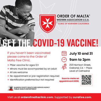 Update: Free Six Flag Ticket + Order of Malta Clinic Offers Free Vaccines, July 10 and July 31, 2021