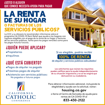 Rental/Utility Assistance Available from California Catholic Conference