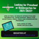 Preschool and Kindergarten Webinar