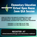 Elementary Education Virtual Open House Q&A Zoom Webinar