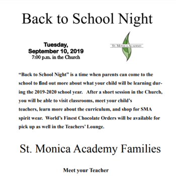 "Parent ""Back-to-school"" night"