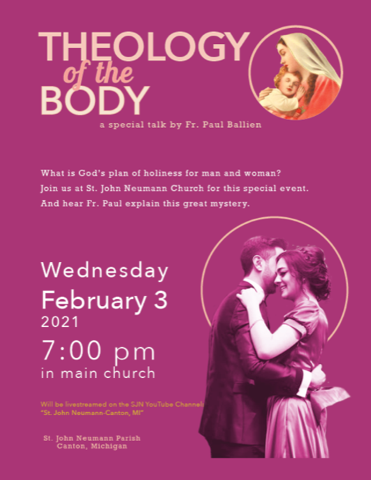 Theology of the Body Flier
