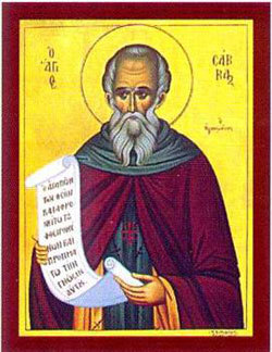 Saint of the Day - Saint Sabas