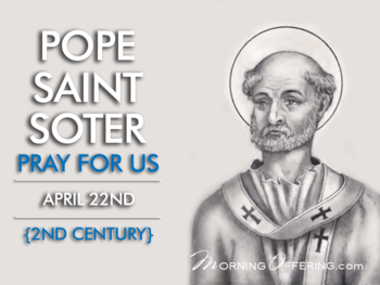 Saint of the Day - Pope Saint Soter