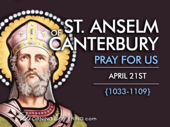 Saint of the Day - St Anselm of Canterbury