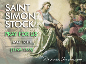 Saint of the Day - Saint Simon Stock