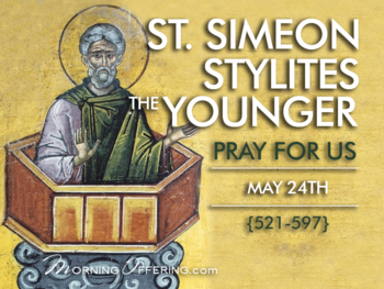 Saint of the Day - Saint Simeon Stylites the Younger