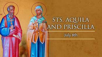 Saints of the Day - Saints Aquila and Priscilla