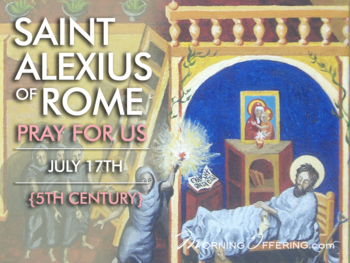 Sint of the Day - Saint Alexius of Rome