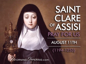 Saint of the Day - Saint Clare of Assisi