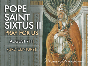 Saint of the Day Pope Saint Sixtus II