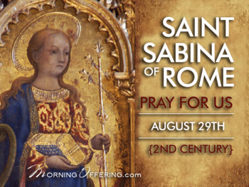 Saint of the Day - Saint Sabrina of Rome