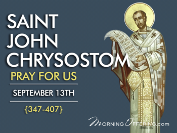 Saint of the Day - Saint Chrysostom