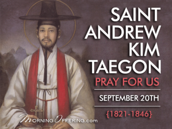 Saint of the Day - St. Andrew Kim Tae-gon