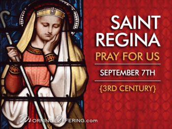 Saint of the Day - Saint Regina