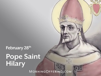 Saint of the Day - Pope Saint Hilary