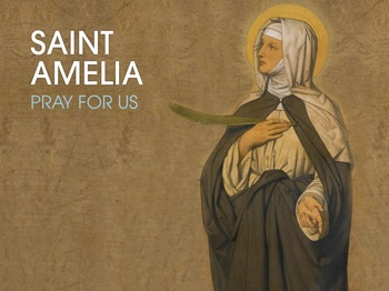Saint of the Day - Saint Amelia
