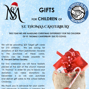 Gifts for Children of St. Thomas