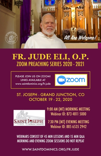 Fr. Jude Eli OP Virtual Mission - Oct. 19 - 22