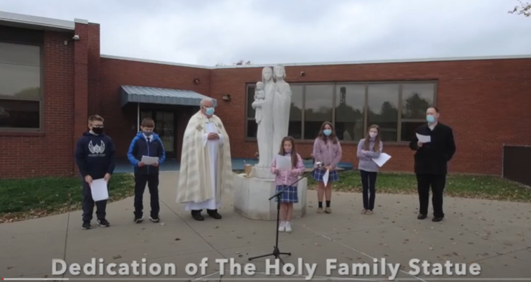 Click to watch our Dedication to The Holy Family Statue 10-27-20
