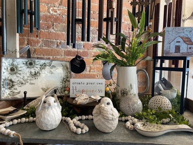 A sample of home decor items available at Earthly Blessings.
