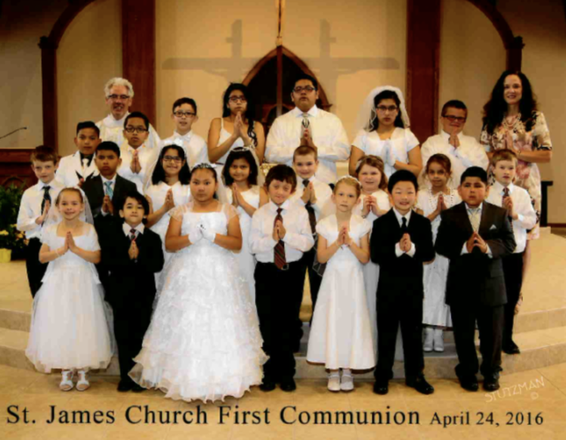 First Communion 2016 Group Picture