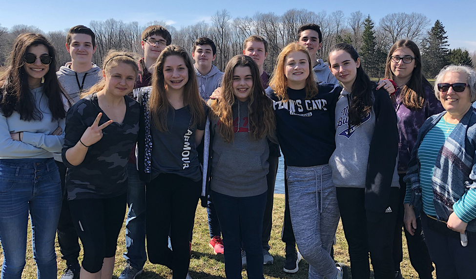 """High School Faith Formation Students of St Timothy Parish at Confirmation Retreat"""