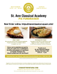 Griggstown Pie Fundraiser to Benefit St. Ann Classical Academy