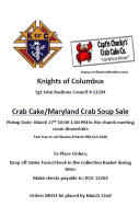 KOC Crab Cake/Maryland Crab Soup Sale