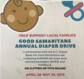 Help Support Local Families: Good Samaritans Annual Diaper Drive