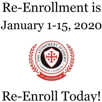 Re-Enroll for the 2020-2021 School Year