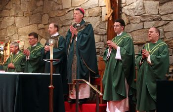 Mass with Bishop Checchio - August 24
