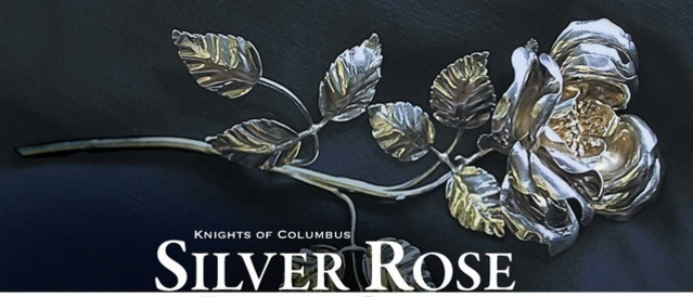 Silver Rose Rosary