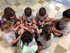 Saint James Students Praying the Rosary