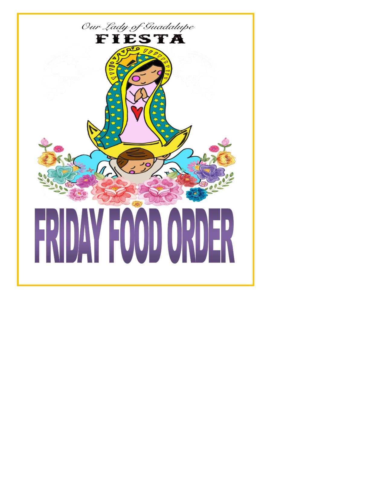 Orders for Friday 8/6/2021