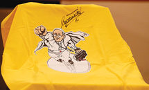 'Superpope' shirt raises money for papal charity