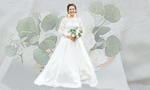 Wedding dress worn once, twice, three times by a lady