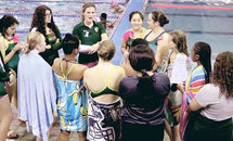 Cabrini swimmers make waves for cancer awareness