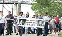Students at St. Anthony, Gretna, walk for peace