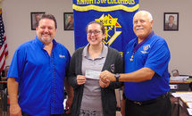 Knights of Columbus 9623 help young lady study to be a nun