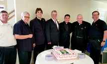 New deacon lauded at St. Anselm celebration