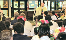 St. Thérèse lights up feast day at new school