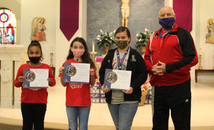 Knights of Columbus in LaPlace sponsors three students who participated in Keep Christ in Christmas